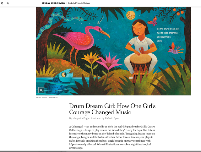 New York Times Bookshelf Feature: Music Makers-Drum Dream Girl