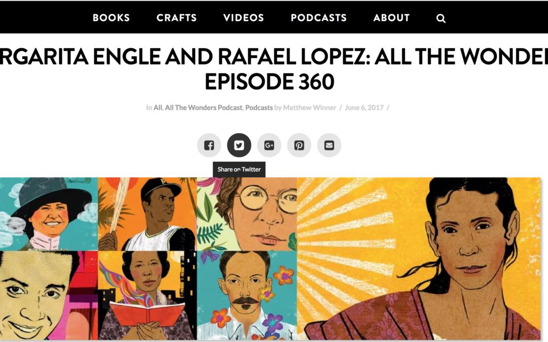 ALL THE WONDERS Podcast: Bravo! Poems about Amazing Hispanics
